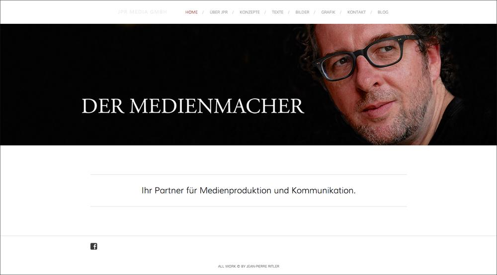 Die neue Website von JPR MEDIA