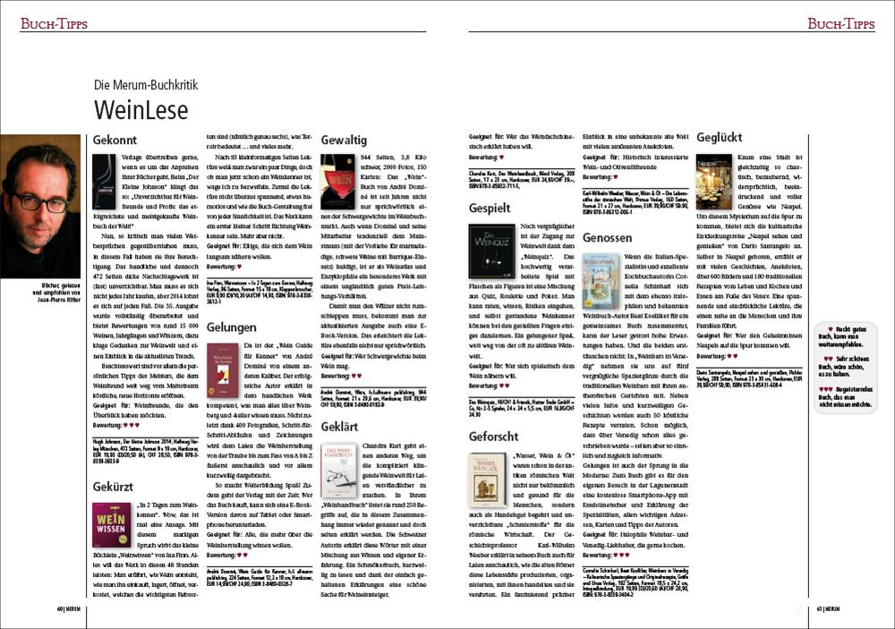 PDF der Wein-Lese aus Merum 6/2014