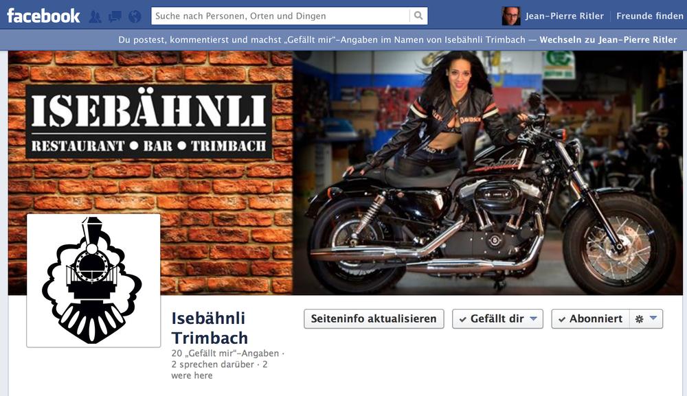 Die neue Facebook-Seite.
