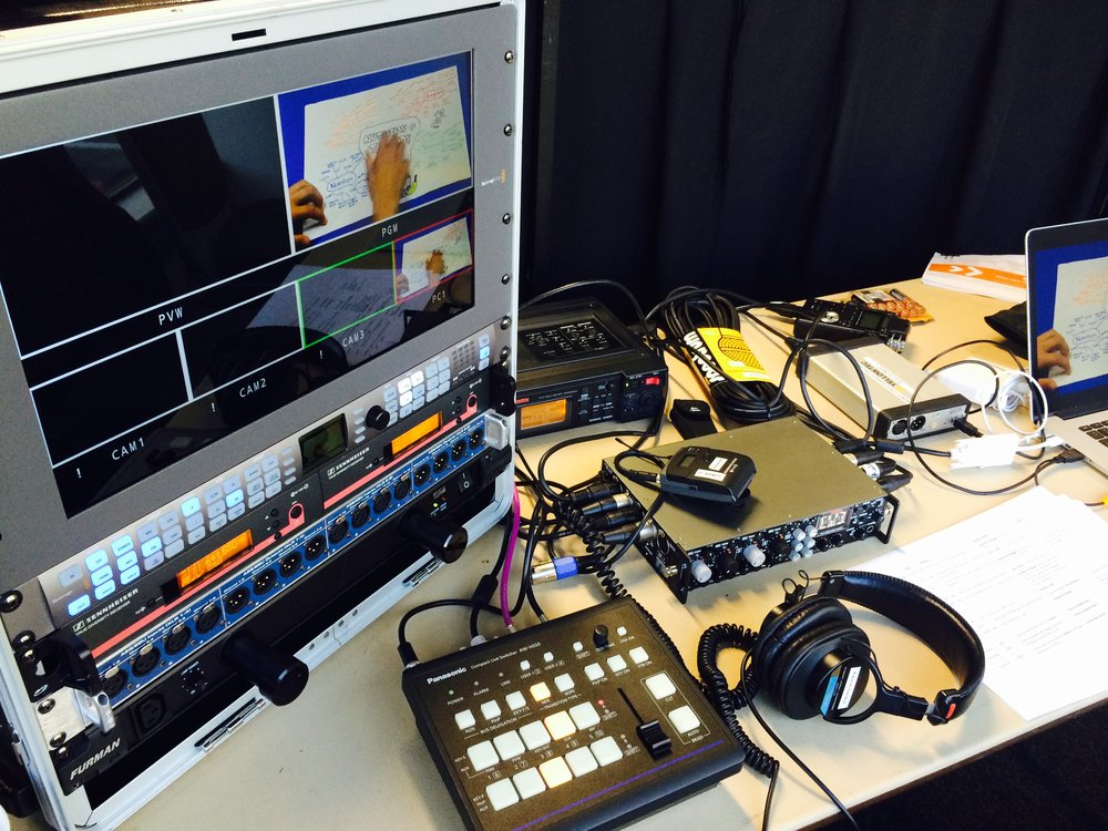 Using the FM-4 in a live broadcast setting to distribute line levels as well as mic-pre.