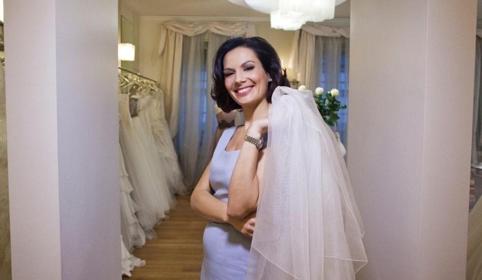 Alessandra Rinaudo durante le riprese del programma.