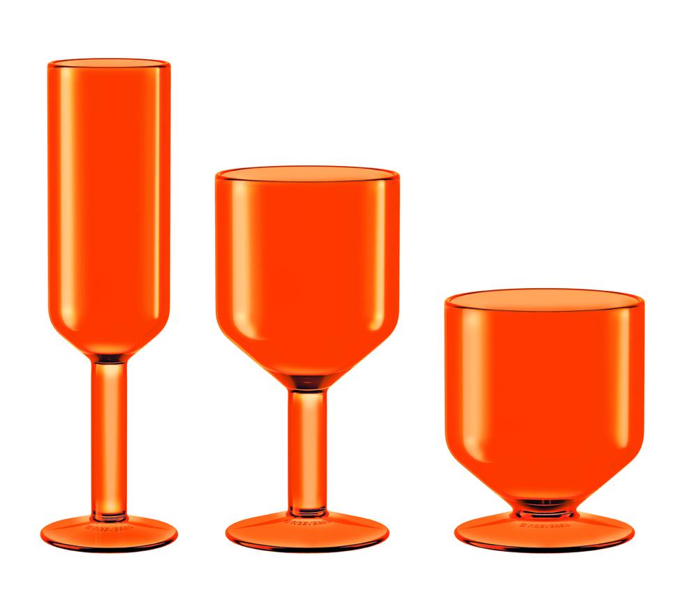 The Good Times Vino, Acqua e Flute, lavabili in lavastoviglie, resistenti agli urti
