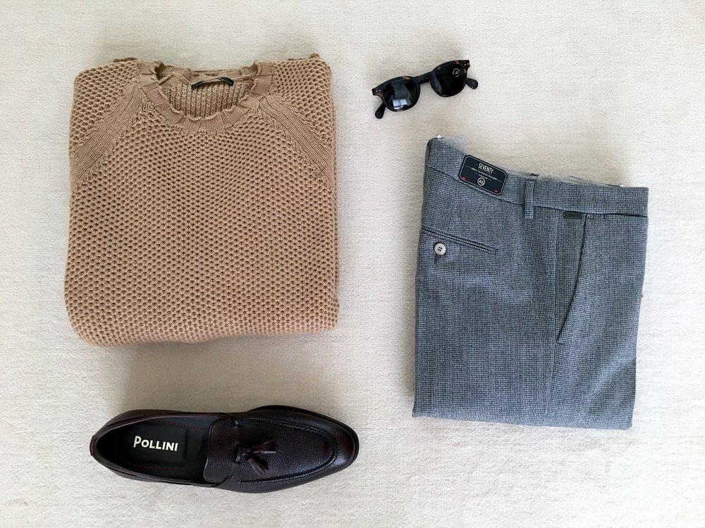 EGO LOOK: maglione APLHA STUDIO + pantaloni SEVENTY + mocassini POLLINI
