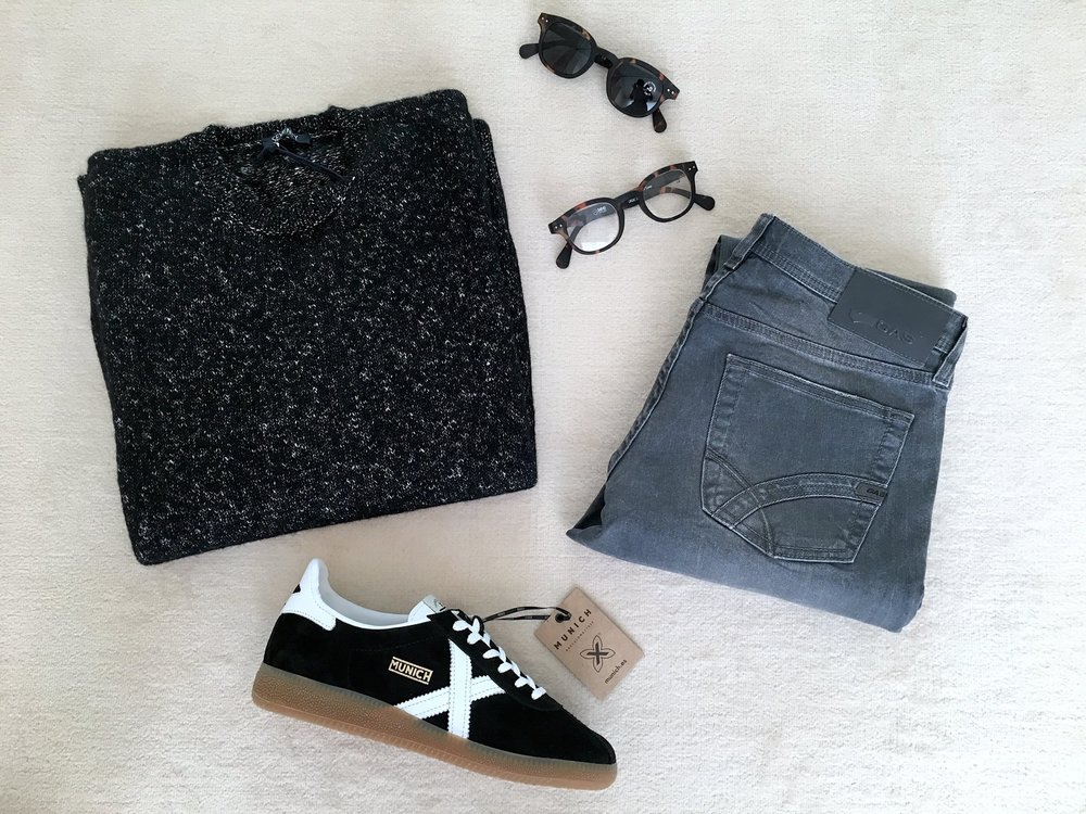 EGO LOOK: maglione SEVENTY + jeans GAS JEANS + sneakers MUNICH