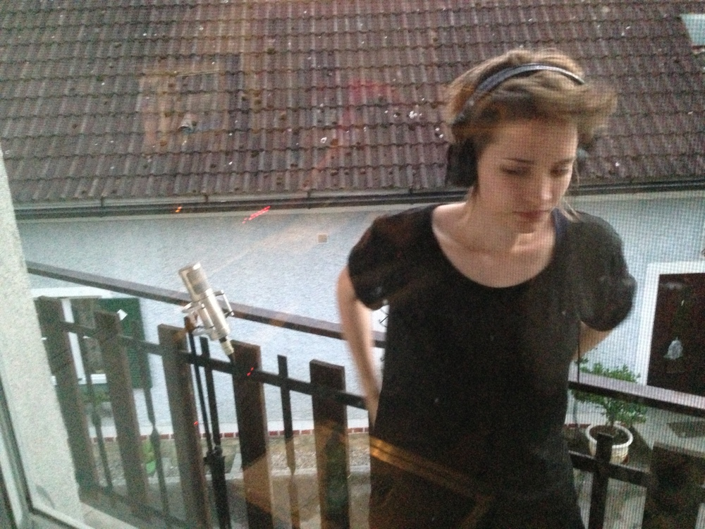 Exiled onto the balcony to record backing vocals… ;)