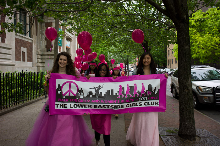 Time and Place: The Walk-a-thon will take place on Saturday May 11th, 2013 from 9:00 a.m. - 2:00 p.m. and will end with a fins line Block Party and Health Fair at the new Lower Eastside Girls Club Center for Community at 101 Avenue D. The Walk will kick off at the PS 20 Playground on Essex Street between Houston and Stanton Streets. Registration is from 9:00 a.m. to 10:00 a.m. Why Walk?  100% of funds raised through the event will support Girls Club health and nutrition programs. Each $2,500 raised supports a full year of programming for one girl; $1,500 supports school year programming; and $1,000 supports intensive summer programming. Girls Club health programs include community health workshops, nutrition and cooking classes, body image and women's health counseling, running a Farmer's Market, yoga and dance classes,  free summer camp for girls and more!
