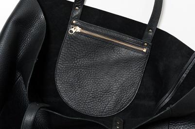 simple black leather tote HTUfOGm5