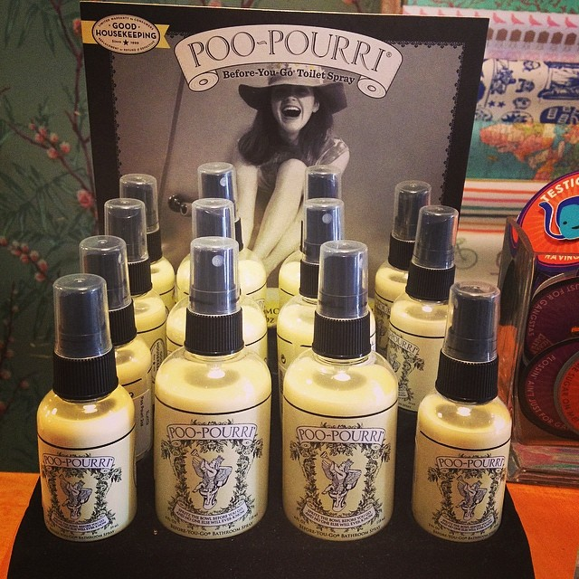 #poopouri is here!!!! For $12 you can make your bathroom a safe haven. Call to order or come in and buy it! #treatyoself