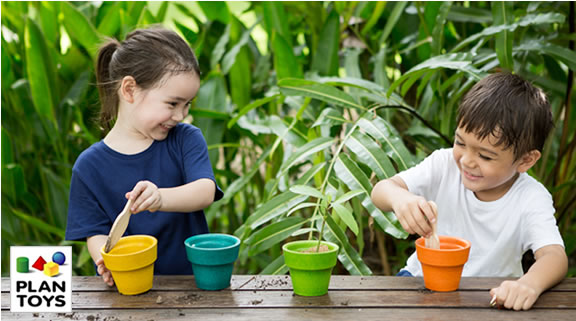 For over 30 years, PlanToys® has been recycling the wood from expired rubber wood trees to create beautiful wooden toys that inspire children's imagination and promote a commitment to sustainable play for generations to come.
