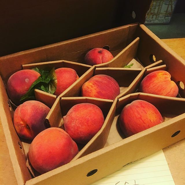 Received my first box!  These are not your normal peaches. Thank all the Gods for @branstoolorchards !!! #apeachisamoment