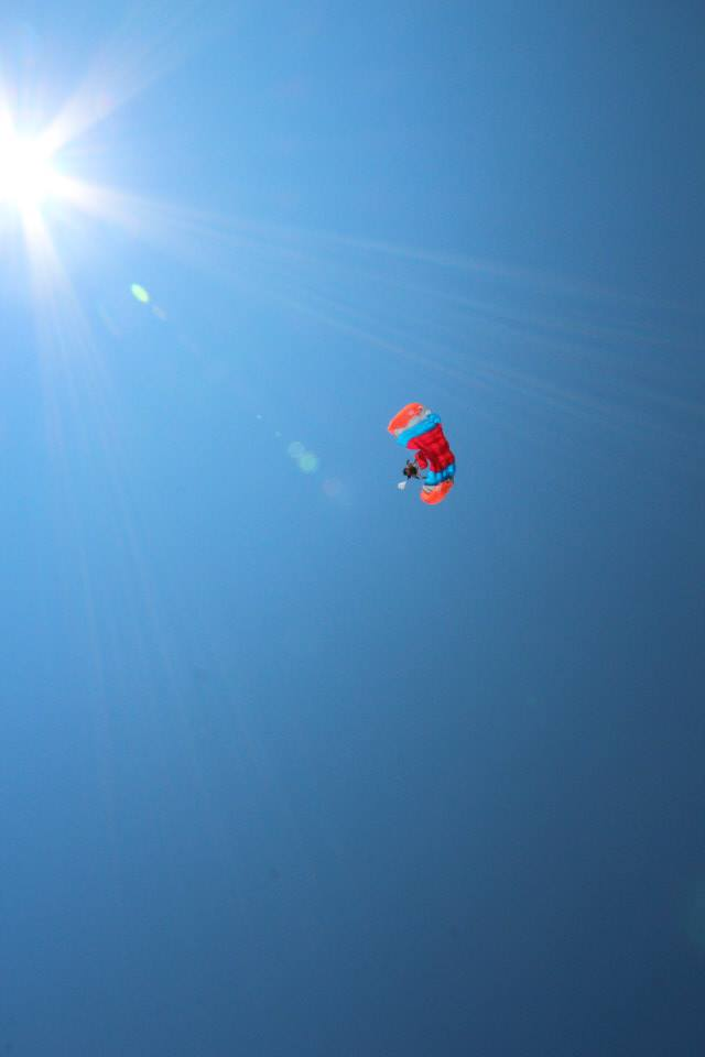 Flying high. Directly into the sun.
