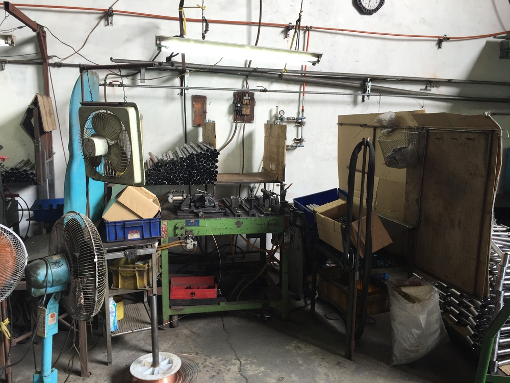 A tacking/welding station.