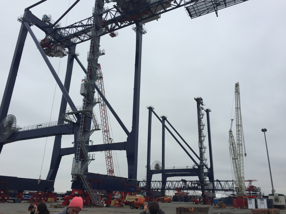 GCT is assembling two new container cranes now.