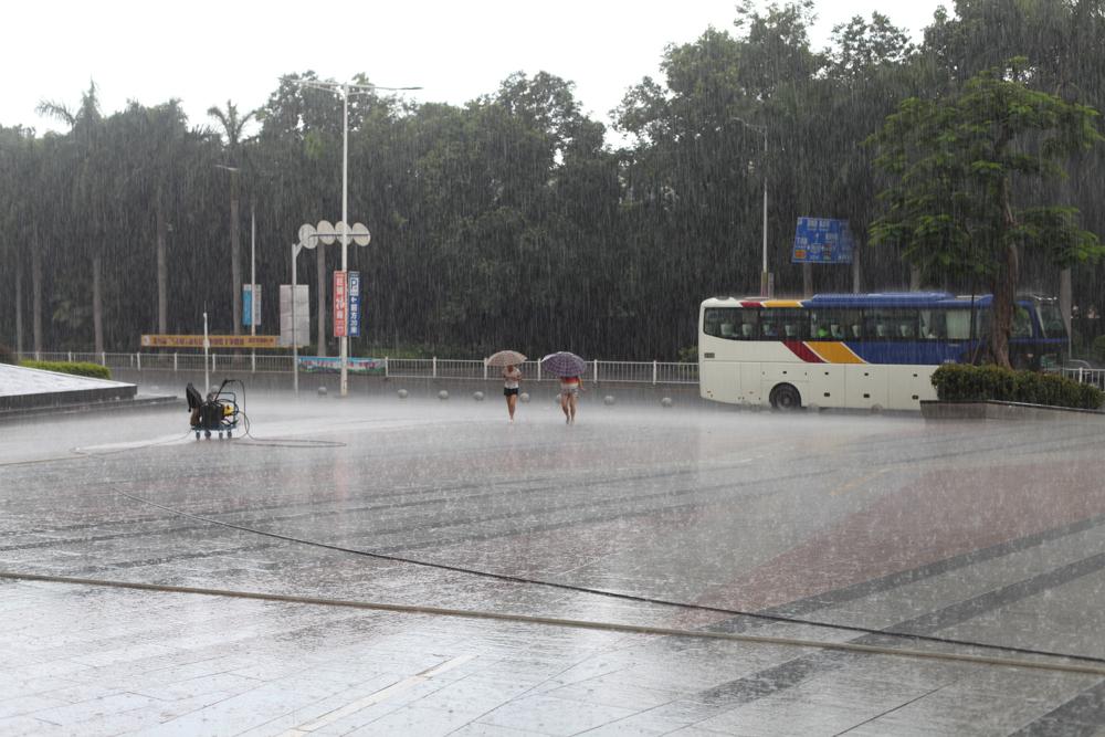 Rain, Dongguan
