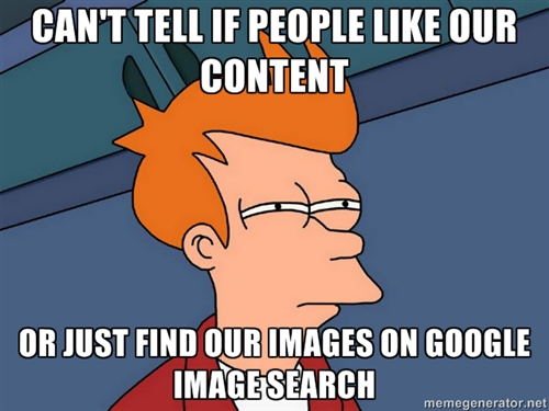 Can't tell if people like our content...or just find our images on Google image search