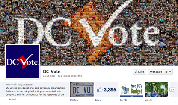 DC Vote uses a great photo montage to remind the viewer of all the people invested in DC voting rights.