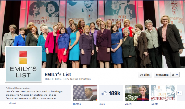 EMILY's List shows off the women they have worked to get elected to state and national offices. It gives the viewer a real sense of the important accomplishments the organization has worked toward.