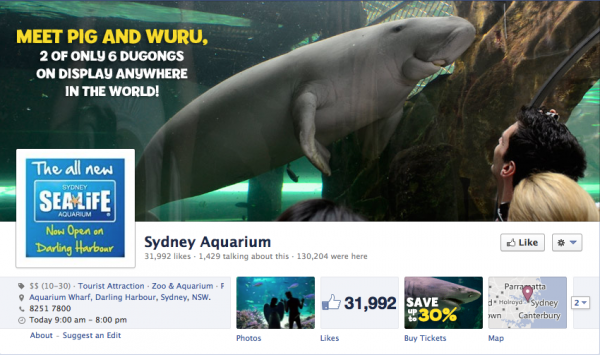 The Sydney Aquarium  does a super job highlighting attractions at their facility.