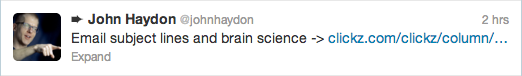 Tweet from @JohnHaydon