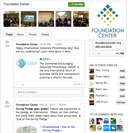 Foundation Center on Google+