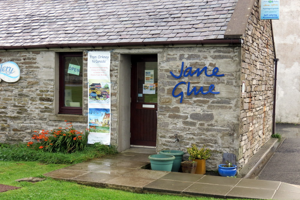 Jane Glue's Gallery in Finstown, Orkney, Scotland