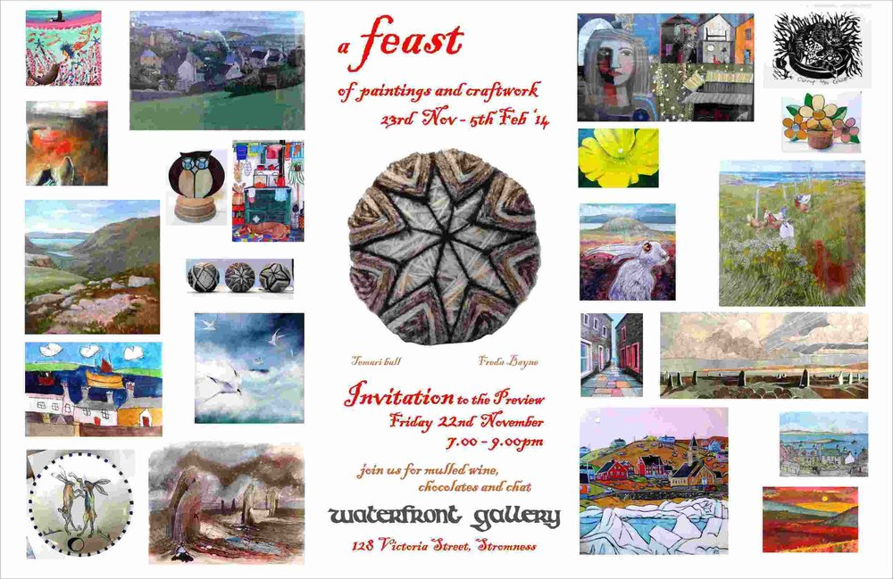 My paintings in Waterfront Gallery's Christmas show called 'Feast'-Christmas 2013