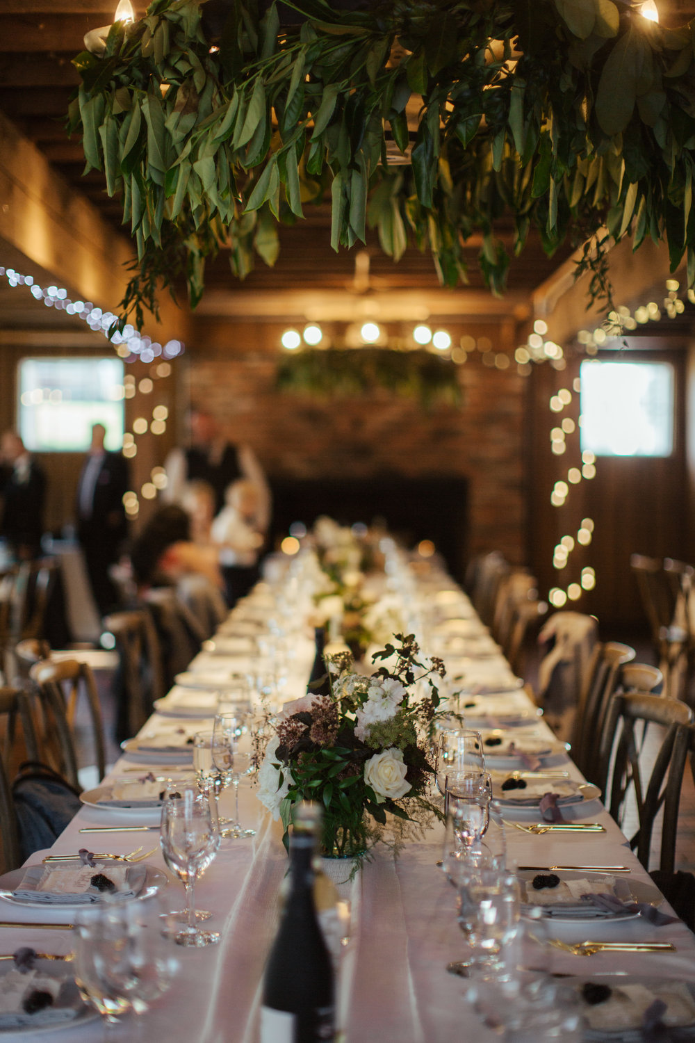 A gorgeous table setting for a beautiful wedding at Shawnessy Barn