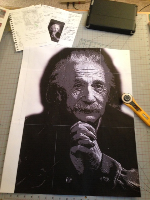 Print out the pattern and tape the pages together.