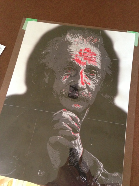 Ink in the highlights.