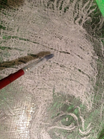 Sculpt cheesecloth.