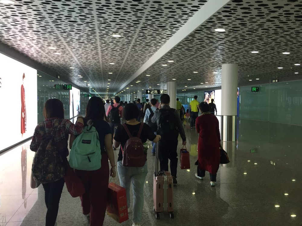 Shenzhen airport through bleary jetlagged eyes