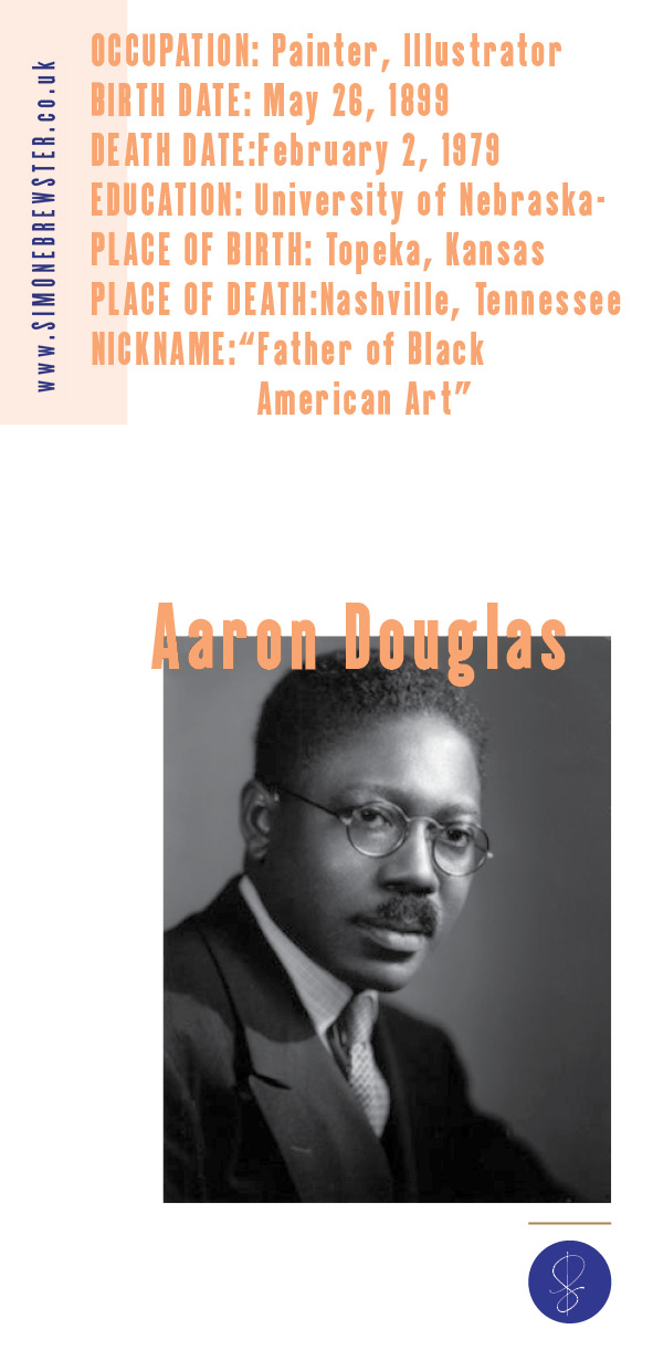 Aaron Douglas artist on Simone Brewster blog