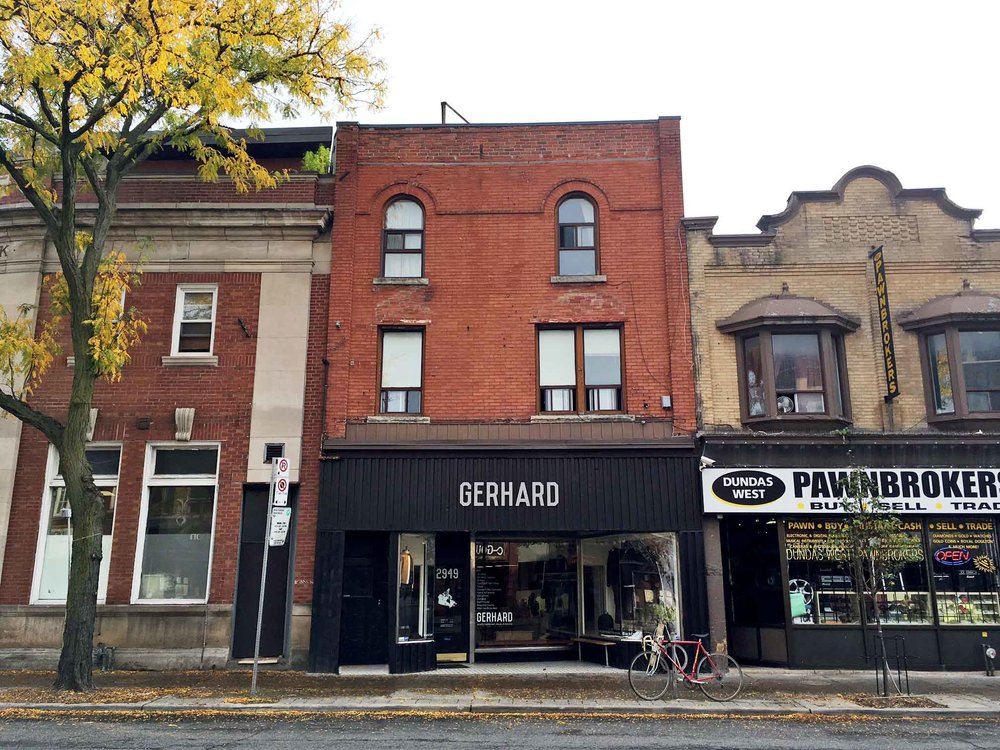 """GERHARD is an independent, owner operated menswear boutique in Toronto's """"Junction"""" neighbourhood."""