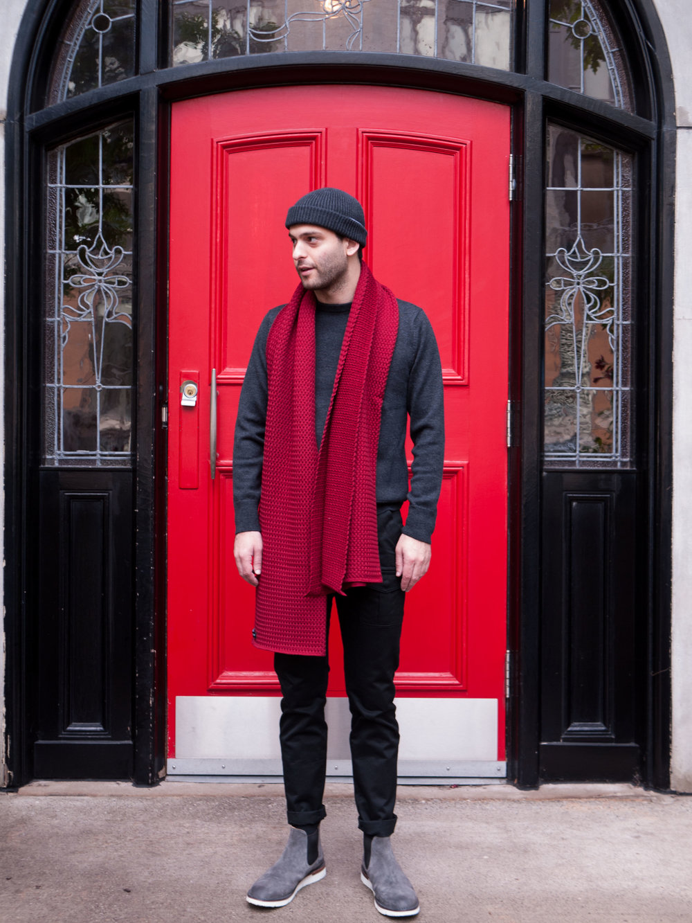 008    IN SITU  Crewneck  &  Toque     Wings + Horns  Bush Pants     Buttero  Boots     String Theory  Shawl