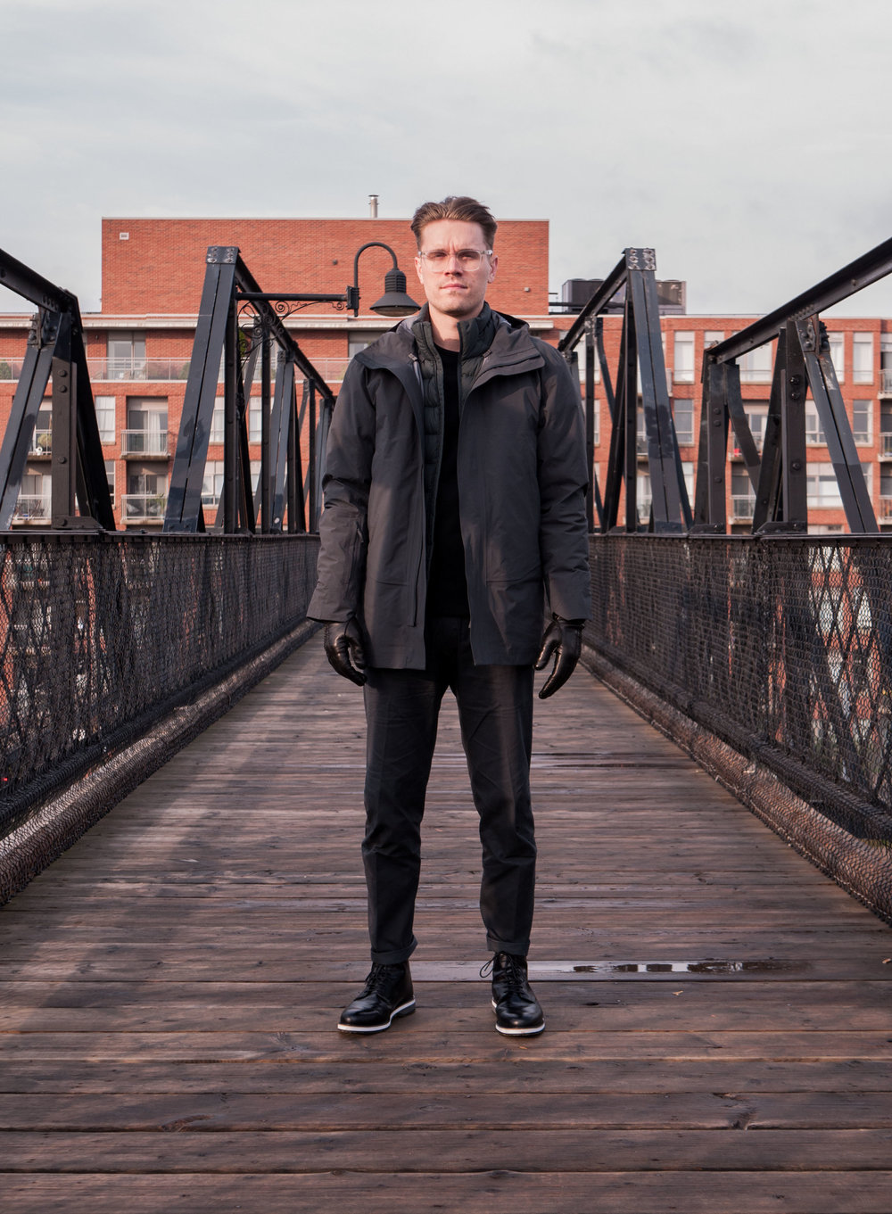 007    Arc'teryx Veilance  Jacket ,  Sweater  &  Pants      WANT Les Essentiels  Boots     Hestra  Gloves