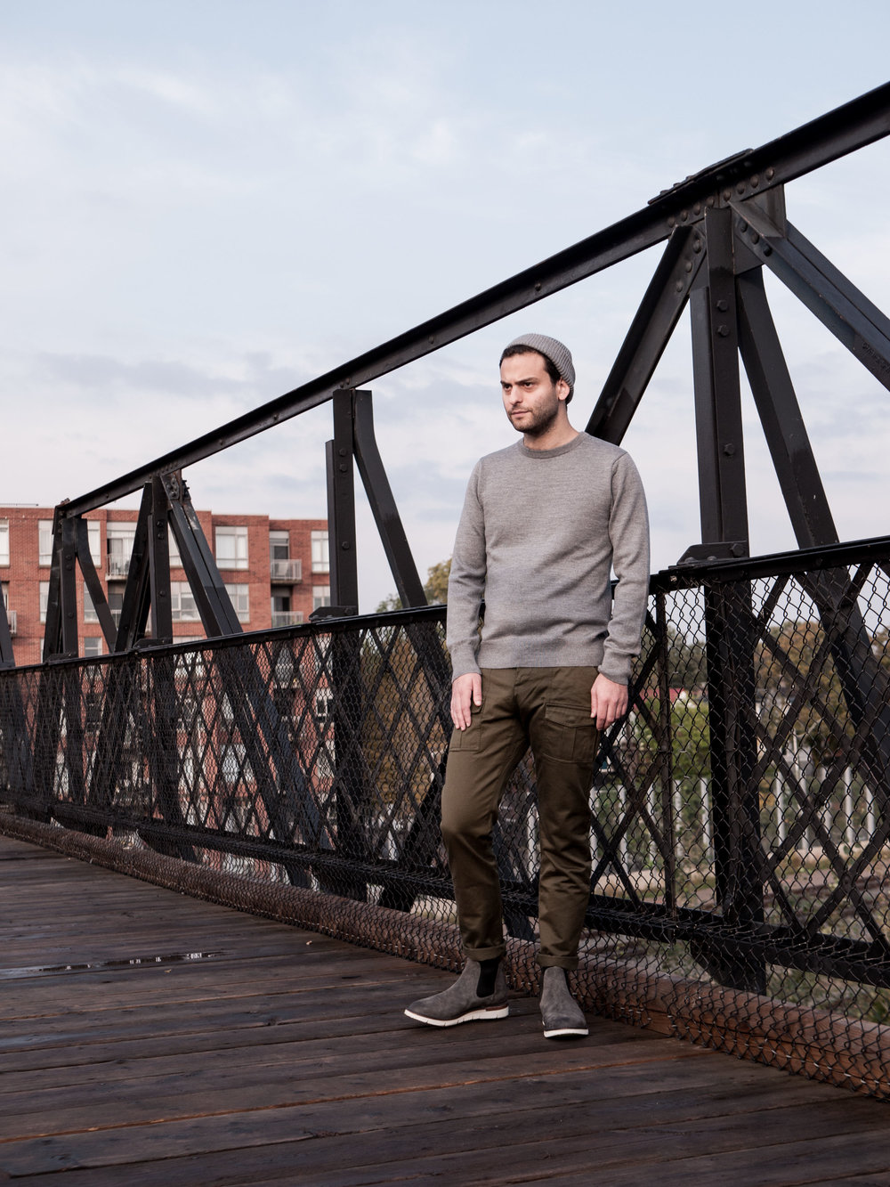 002    IN SITU  Crewneck  &  Toque     Wings + Horns  Bush Pants     Buttero  Boots