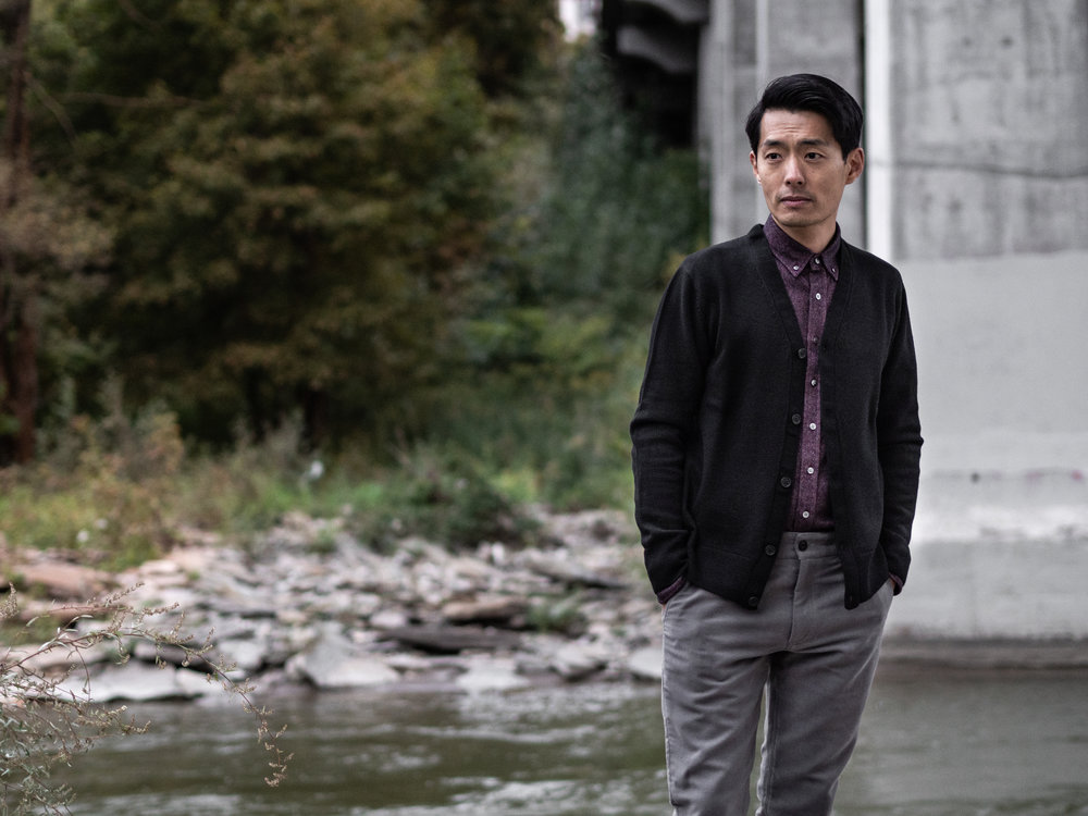 Look 004    IN SITU    Cardigan     Outclass    Shirt    and    Pants     Wings + Horns    Sneakers