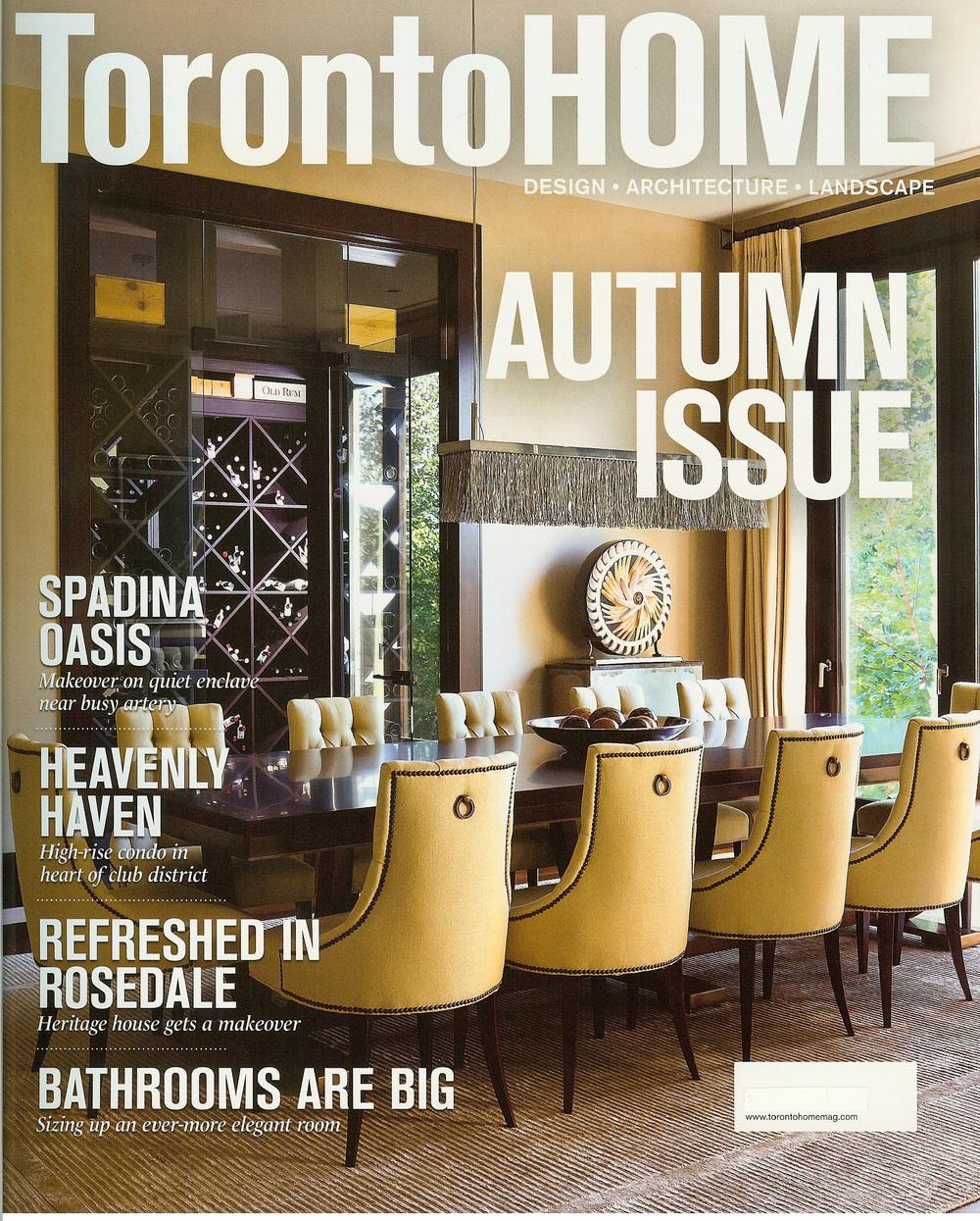 Laura Stein Interiors, Toronto Homes Magazine, Fall 2012