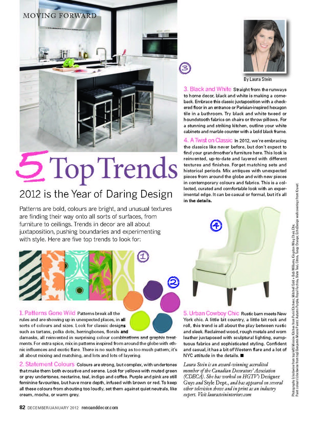 Laura Stein, Reno & Decor, Design Trends