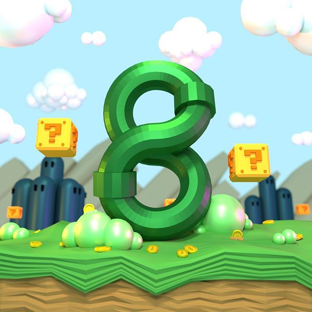 Eight. The most popular video game franchise of all time started out as an 8-bit side scrolling adventure.