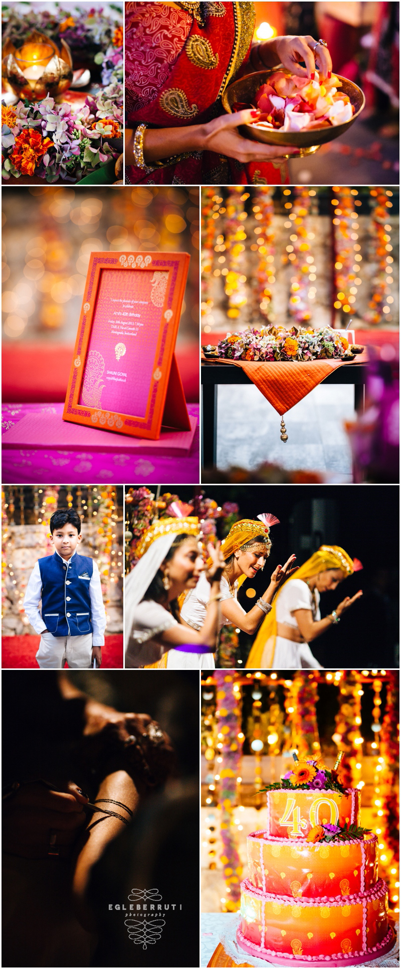 Event photography Lugano. Indian birthday party celebration in Tabla