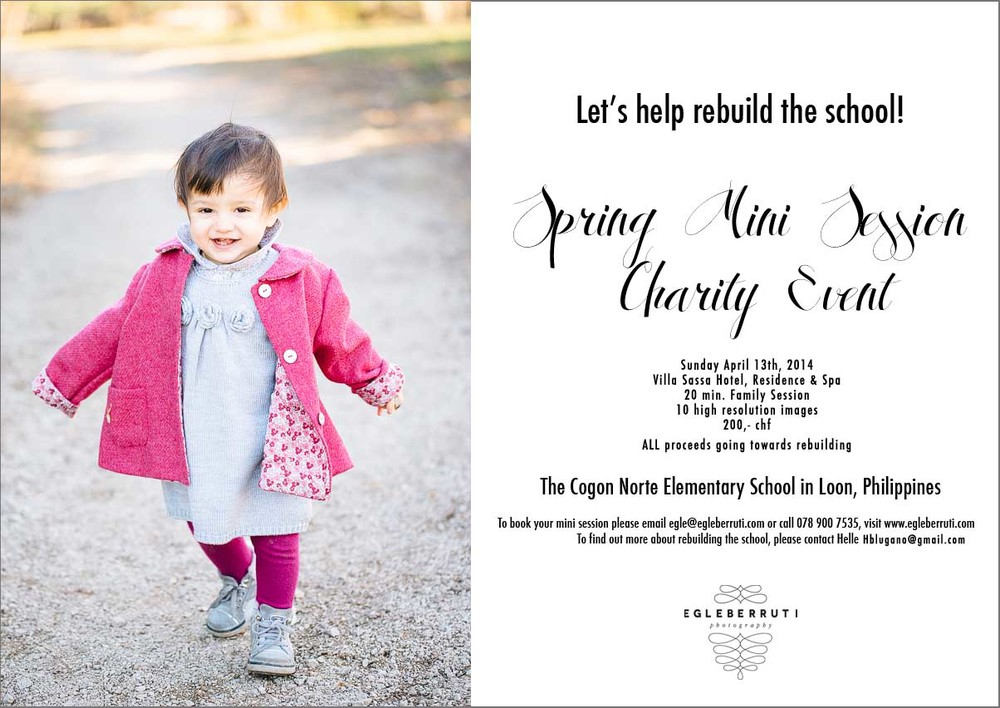 Spring mini sessions fundraising