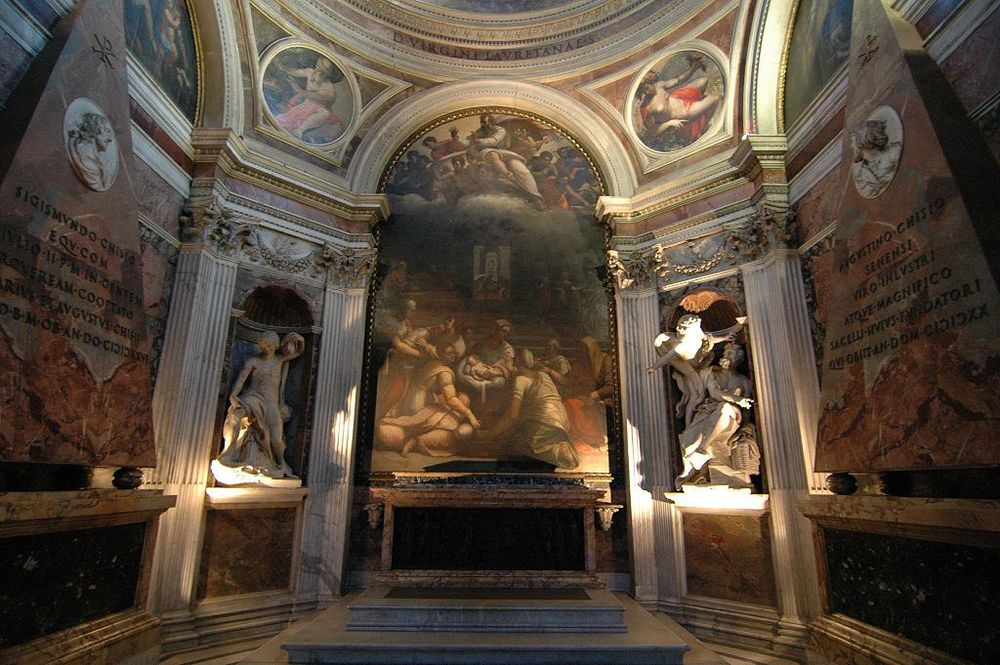The Chigi Chapel in Santa Maria del Popolo