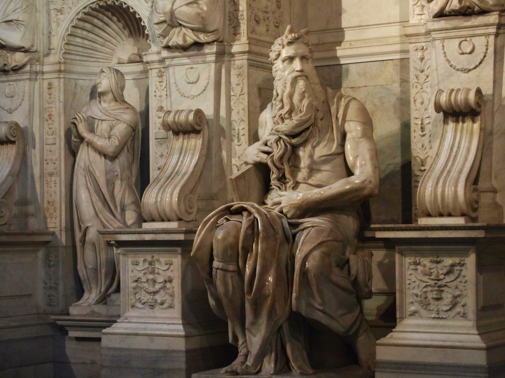 The Moyses of Michelangelo in Rome