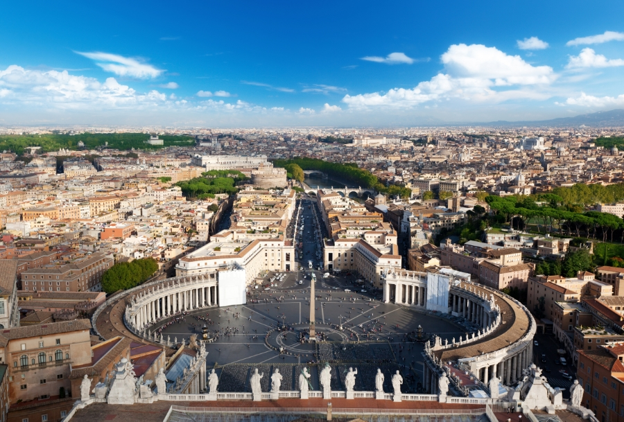 A view of the St Peter's Piazza in Vatican City