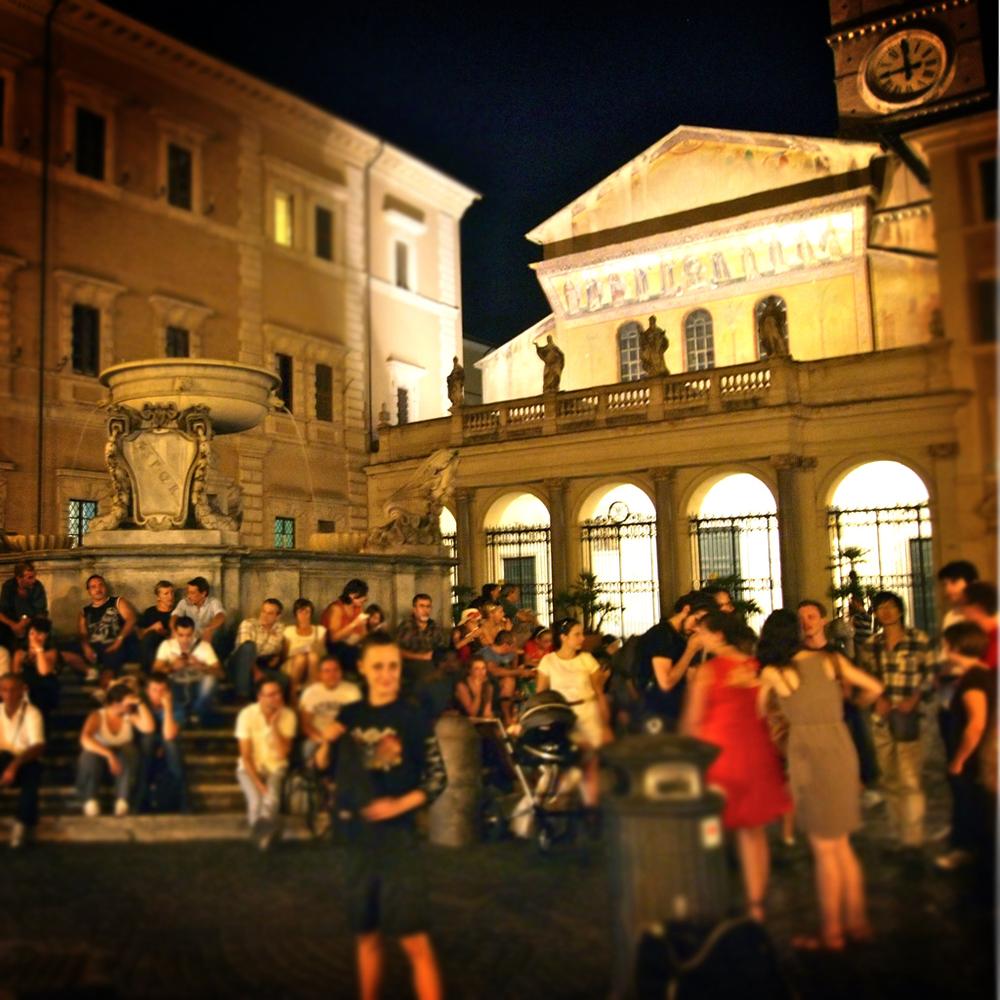 Piazza Santa Maria in Trastevere in Rome