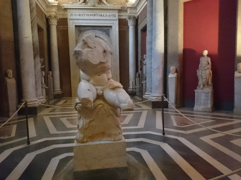 The Belvedere Torso in the Room of the Muses