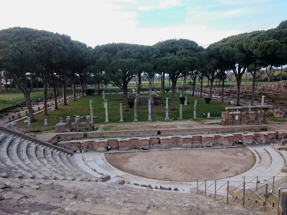 the famous Ostia's amphitheater