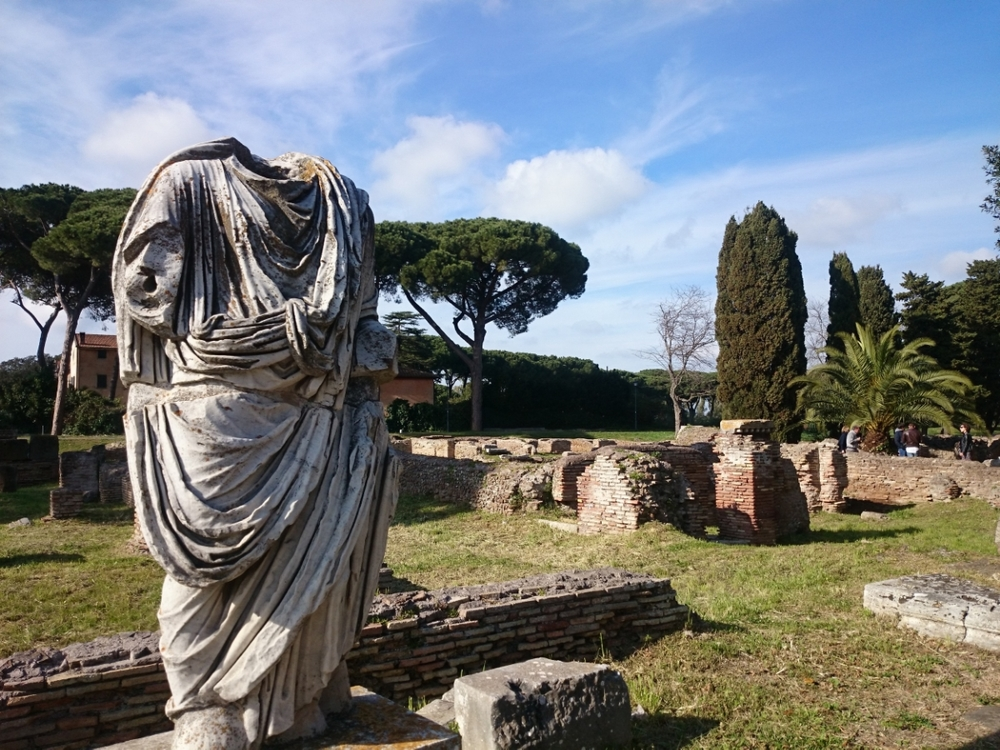 A statue in Ancient Ostia