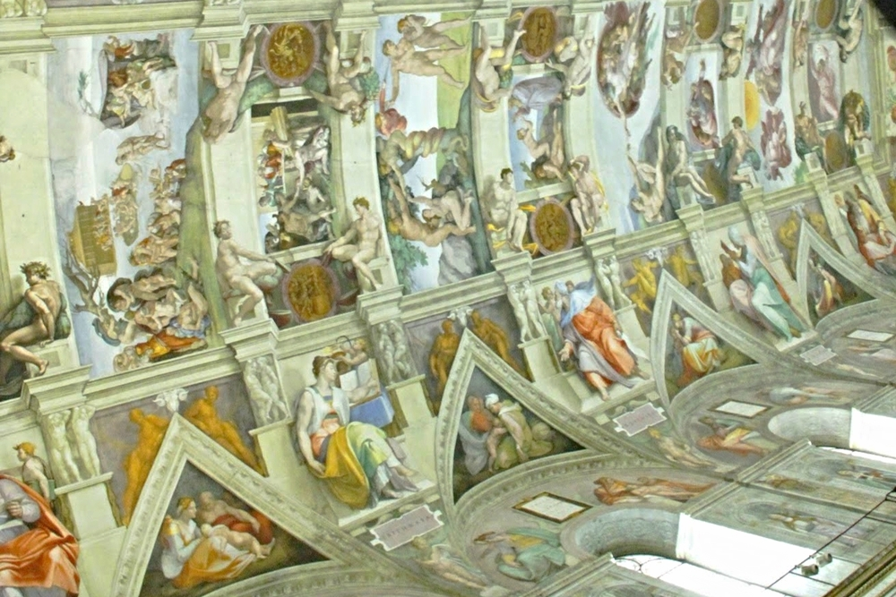 Michelangelo's amazing frescoes in the Sistine Chapel